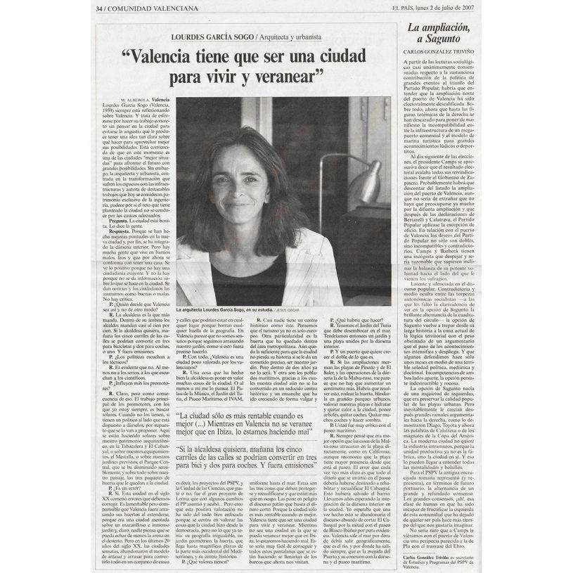 IDD200702 – Entrevista en el periódico El País