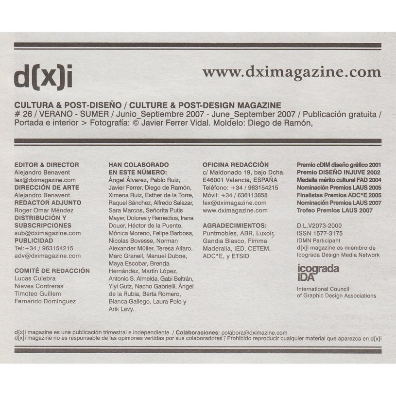 IDD200709 – Entrevista en d(x)i Cultura y Postdiseño