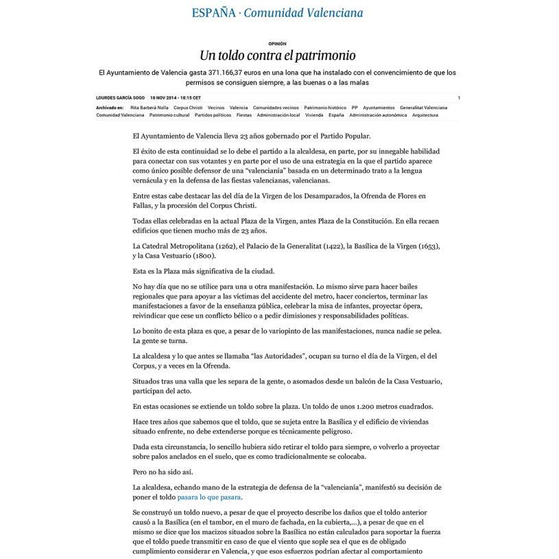 IDD201402 – Artículo en el periódico El País