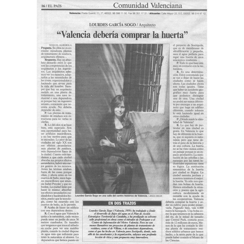 IDD200304 – Entrevista en el periódico El País