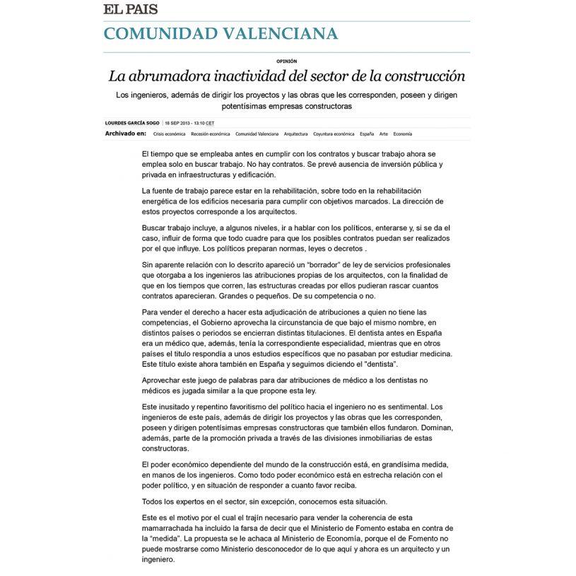 IDD201303 – Artículo en el periódico El País